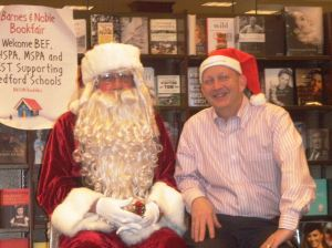 Santa and BEF President Randy Robertson