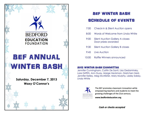 BEF Bash booklet 2013 online page 1