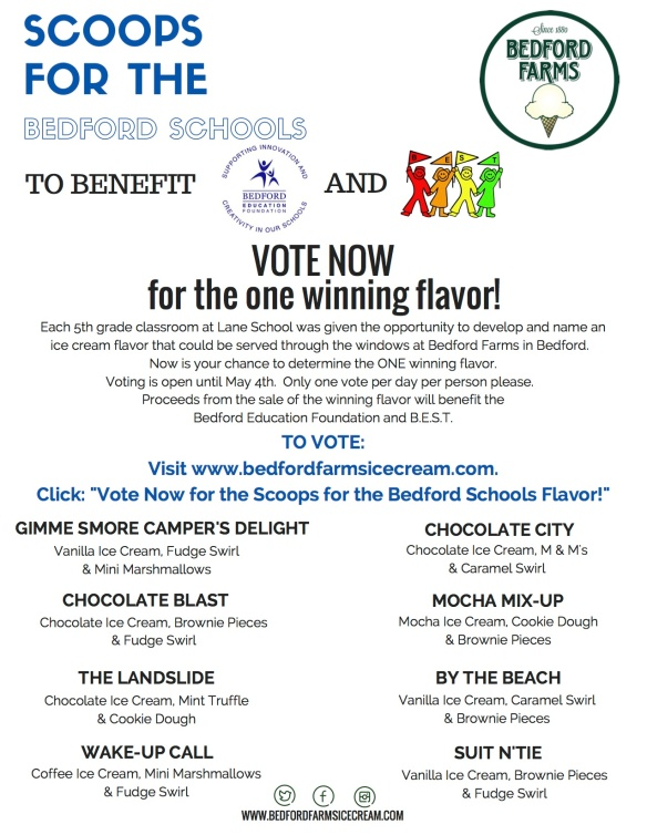 Scoops for Bedford Schools Fundraiser-final